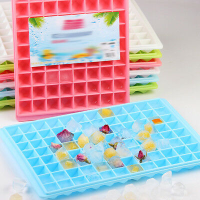*UK Seller* Silicone 96 Cavity Mini Square Ice Cube Tray Maker Mold Mould IN UK