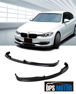 HMS Urethane Front Bumper Lip Chin Spoiler Body kits For 12-18 BMW F30 3-Series