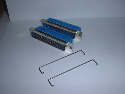 IDC Dee 37 Way Plug Male D Ribbon Cable Tin & Dimple + Strain Relief  3 @ £0.50p
