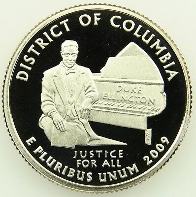 2009 S Deep Cameo Clad Proof District of Columbia Washington Quarter (B03)
