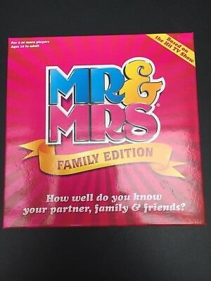 Mr & And Mrs Family Edition Box Board Game Fun- Age 10+ Family Fun/Holidays