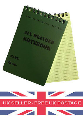 Geocaching A6 Waterproof All Weather Notepad Notebook Note Pad Book Logbook Log