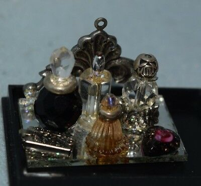 Perfume Set With Crystal Bottles-Dollhouse Miniature