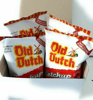 Old Dutch Ketchup Potato Chips 4 Bags 40g Imported From Canada