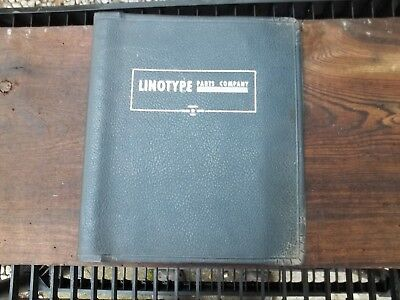 Old 1950s Linotype Parts Catalog Manual Illustrated All Parts Machine Tools ++