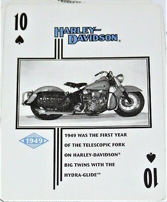 Harley Davidson Historical Playing Cards - Photographs 1903 - 1950