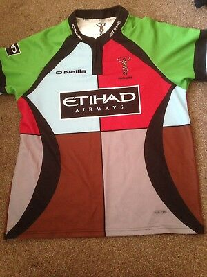 Harlequins Home Jersey O'Neills Rugby Shirt Large