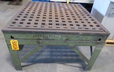 "4' x 4' ACORN Welding Table 1-3/4"" Square Holes Stand (30026)"