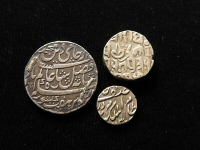 India 3X native states silver coins