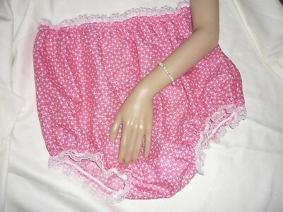 PINK COTTON  Adult baby TERRY GUSSET  ABC PANTS KNICKERS NAPPY COVER XXL
