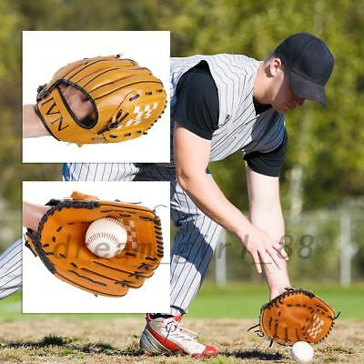 One Piece Left Hand Glove Baseball Softball PVC Leather Sport Outdoor AU Local