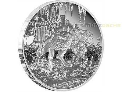 2 $ Dollar Creatures of Greek Mythology Cerberus Niue Island 1 oz Silber 2015