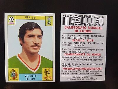 Original Genuine Panini Mexico 70 PEREDA Figurine Card 1970 UNUSED Red Black