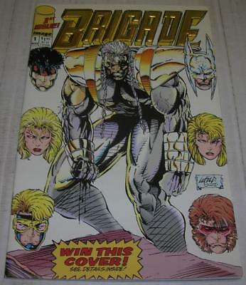 BRIGADE #1 RARE GOLD FOIL EMBOSSED LOGO EDITION (Image 1992) Rob Liefeld (VF-)