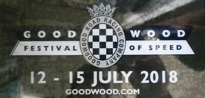 Official 2018 Goodwood Festival Of Speed Sticker Decal New And Unpeeled