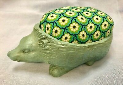 Hedgehog Pincushion  - Distressed Verdigris  by Gisela Graham - Large 6ins long