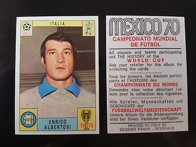 Original Genuine Panini Mexico 70 ALBERTOSI Figurine Card 1970 UNUSED Red Black