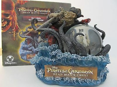 Pirates Of The Caribbean Dead Man's Chest Snow Globe In Original Box Mib