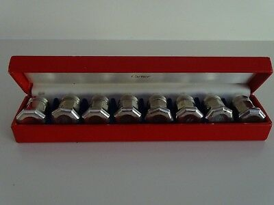 Cartier Sterling Silver mini seasoning 8 Piece set boxed In good condition