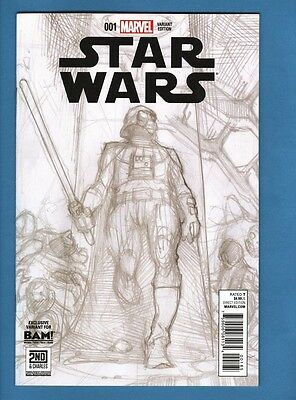 Star Wars (Vol. 2) #1, NM, B&W Books-A-Million Exclusive Variant Cover, Bianchi