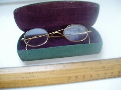Small Vintage Brass Wire Framed Spectacles
