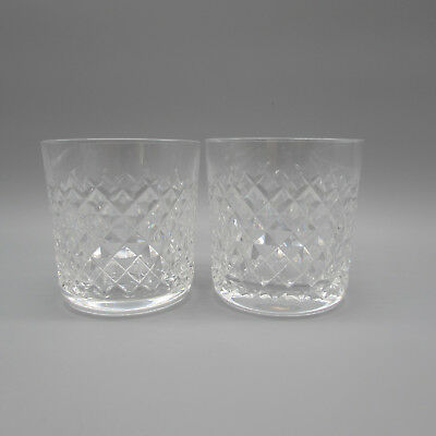 SET OF TWO - Waterford Crystal ALANA Whiskey Glasses