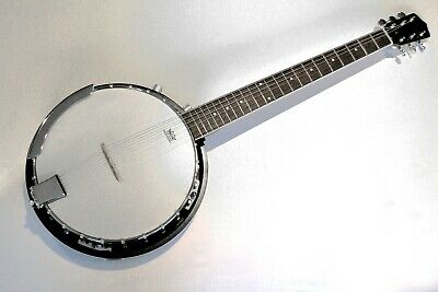 Banjo 6 String Electro Acoustic Banjo New By Clearwater
