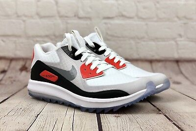 054dfd801d7 NEW NIKE AIR Zoom 90 IT Womens Golf Shoes 8 White Cool Grey MSRP 175 ...