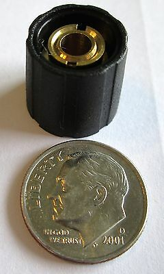 "1/4"" Shaft Collet Knobs  15 Mm  No  Sifam/selco  Sp150-250  Black  Nos"