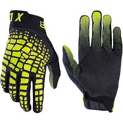 Fox Racing 360 Motocross Mx Bike Gloves Adult - Grav Black / Yellow