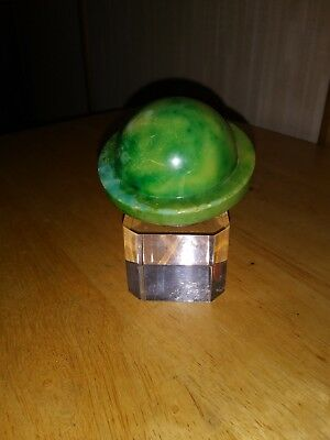 Art Deco Lucite Saturn Paperweight > Green & Clear > Nice Form > Estate FIND