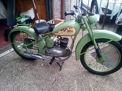 BSA Bantam D1 125cc early rigid frame 1949
