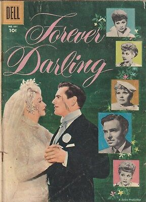 Four Color Number 681. Forever Darling, Dell 1956   Lucille Ball Movie Apt