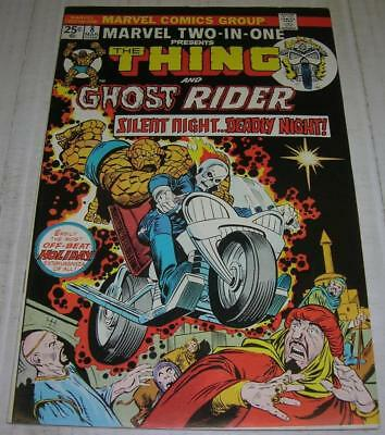 MARVEL TWO-IN-ONE #8 THING & GHOST RIDER (1975) Early GHOST RIDER app (FN/VF)