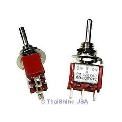 4 x Mini Toggle Switch SPDT On-Off-On - High Quality - USA Seller - Get It Fast
