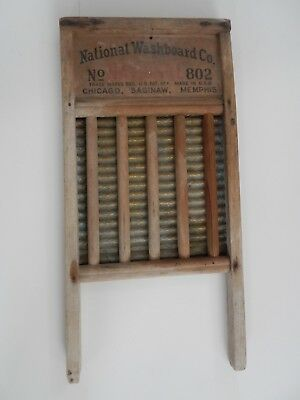 Vintage Antique National Washboard Co The Brass King NO. 802 Old Wash Board
