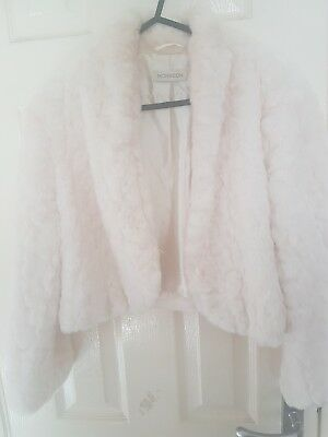 Monsoon Bridal Faux Fur Bolero Jacket
