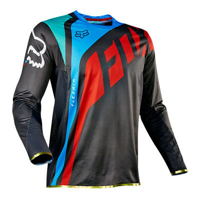 Fox Flexair Seca Motocross Mx Bike Mtb Jersey - Grey / Red