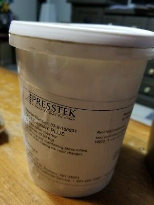 Presstek Paste-Away Pluss Voc Roller Cleaner 83-9-106631