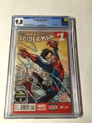 Amazing Spider-man 1 6/14 Cgc 9.8 White Pages Ramos Regular Cover