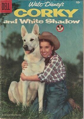 Four Color Number 707. Corky And White Shadow , Dell 1956    Disney Movie Apt