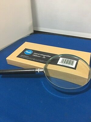 VIKING NICKEL RIM MAGNIFIER 100mm 2x + FREE POSTAGE UK