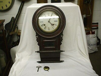 Small American Wall Clock Striking On A Gong