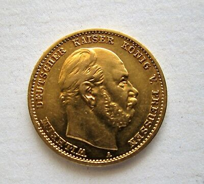 1875 A  Germany -Prussian  10 Mark Gold Coin