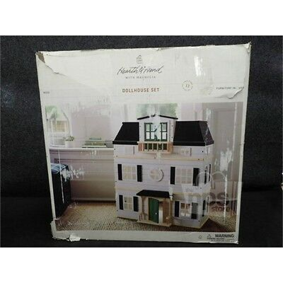 Hearth & Hand w/Magnolia 324-06-1018 13 Piece Wooden Dollhouse with Furniture*