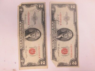Two Us $2 United States Star Notes