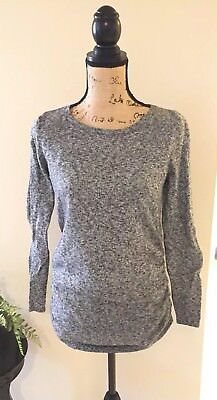 EUC Old Navy Maternity Classic Fitted Sweater Black Jack Heather Sz S