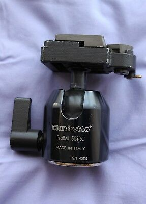 Manfrotto ProBall 308RC Head and Plate - Used condition