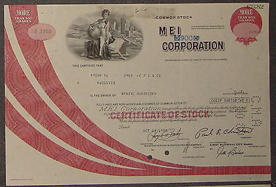 MEI Corporation 1975 900 Shares