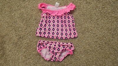 Child of Mine by Carter's Baby Girl Infant Pink Swim Suit 2-Piece Swimming Summe